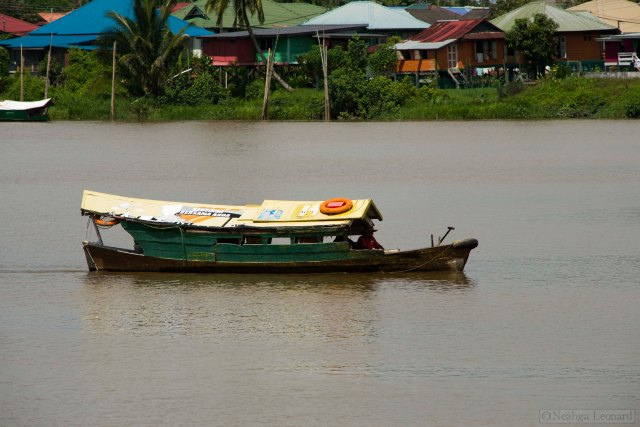 River boat on the Sarawak in Kuching, Malyasia