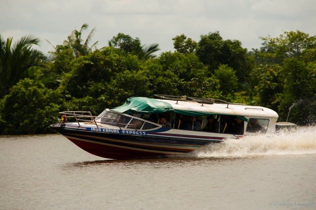 Speedboat returning to Pontianak from Sukadana