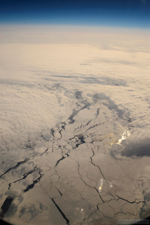 Ice floes on the Arctic Ocean